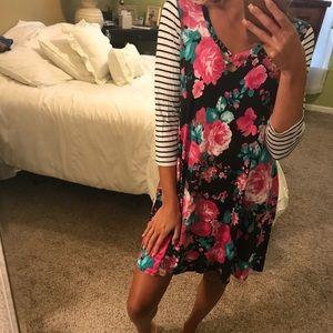 New striped floral dress
